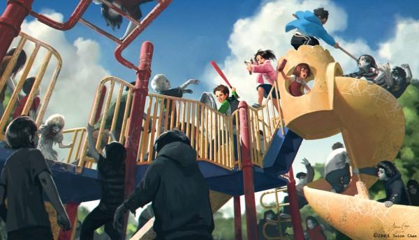 Zombie Playground: KICKSTART IT!