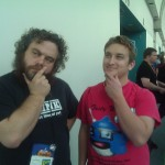 Patrick Rothfuss and me in deep thought