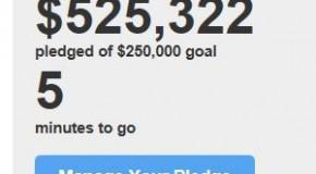 Penny Arcade Kickstarter funded at $525k+