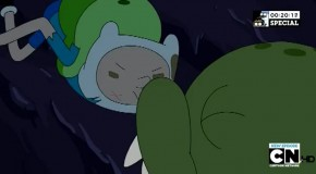 Homo-kiss on Adventure Time's 100th episode, RAD!