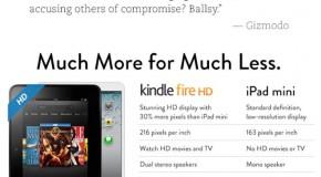 Amazon burns iPad on front page :)